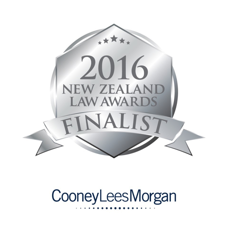 We are New Zealand Law Awards finalists